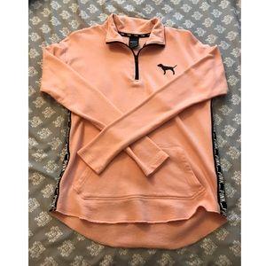 PINK Long-sleeved Quarter Zip
